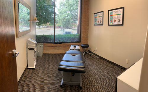 Chiropractic Dallas TX Treatment Room at Wellness Vida Center